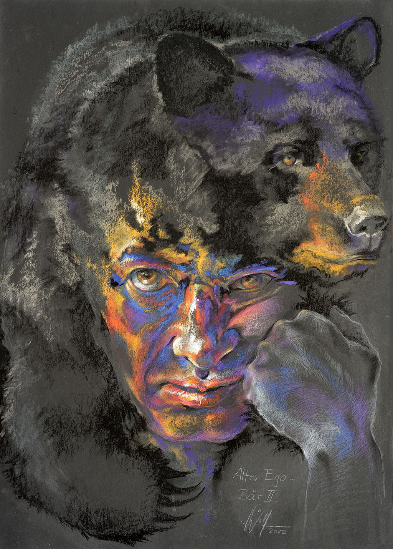Alter Ego: Bär II Bilder Malerei und Zeichnung Portraits
