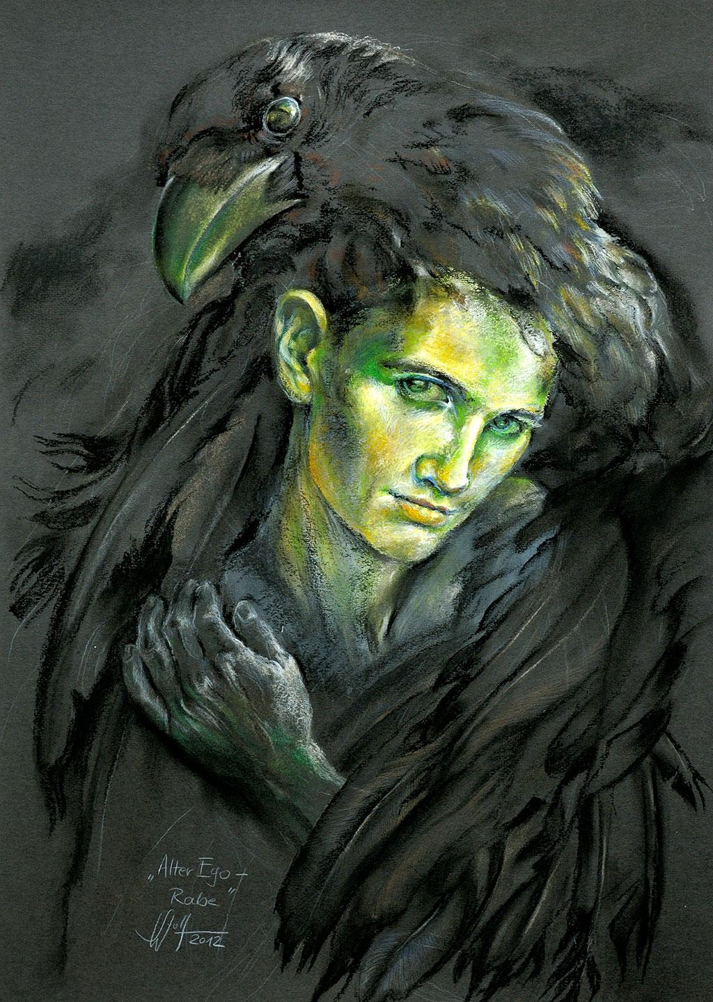 Alter Ego: Rabe Bilder Malerei und Zeichnung Portraits