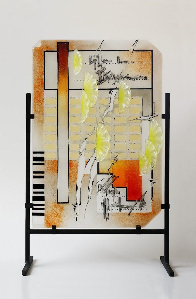 """""""Beflügelt""""- Inspiration in Glas Freie Arbeit Glasbilder Glasobjekte"""