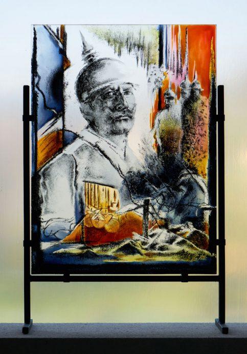 Der Feldherr Freie Arbeit Glasbilder Glasmalerei Portraits