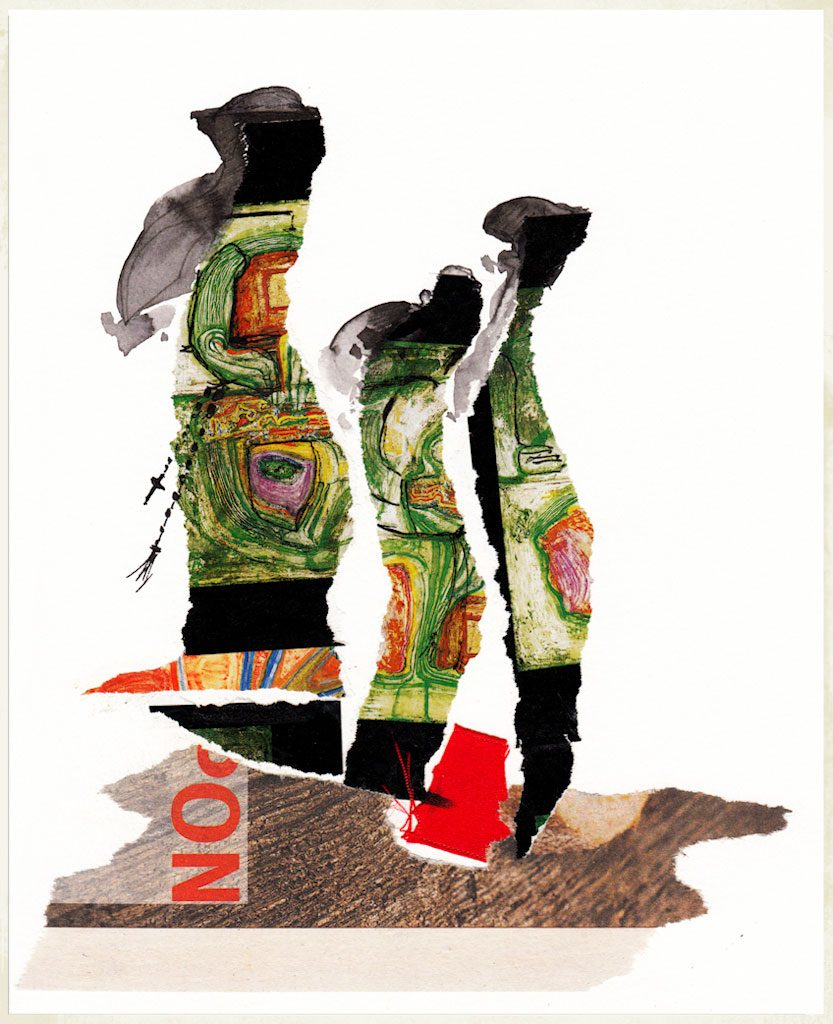 Drei Nonnen auf dem Weg zum Morgengesang Bilder Freie Arbeit Malerei und Zeichnung