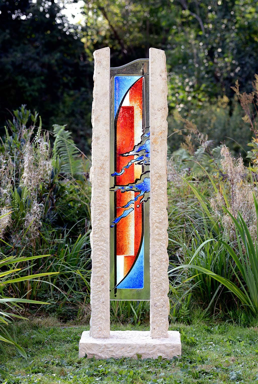 Durchkreuzt Außenbereich Garten Glasmalerei Innen und Außen Schönes Glas für Ihr Zuhause