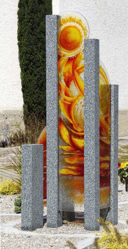 Auferstehung Auftragsarbeit Außenbereich Geschäftskunden Glasgestaltung für Gemeinschaftsgrabanlagen Grabgestaltung Innen und Außen