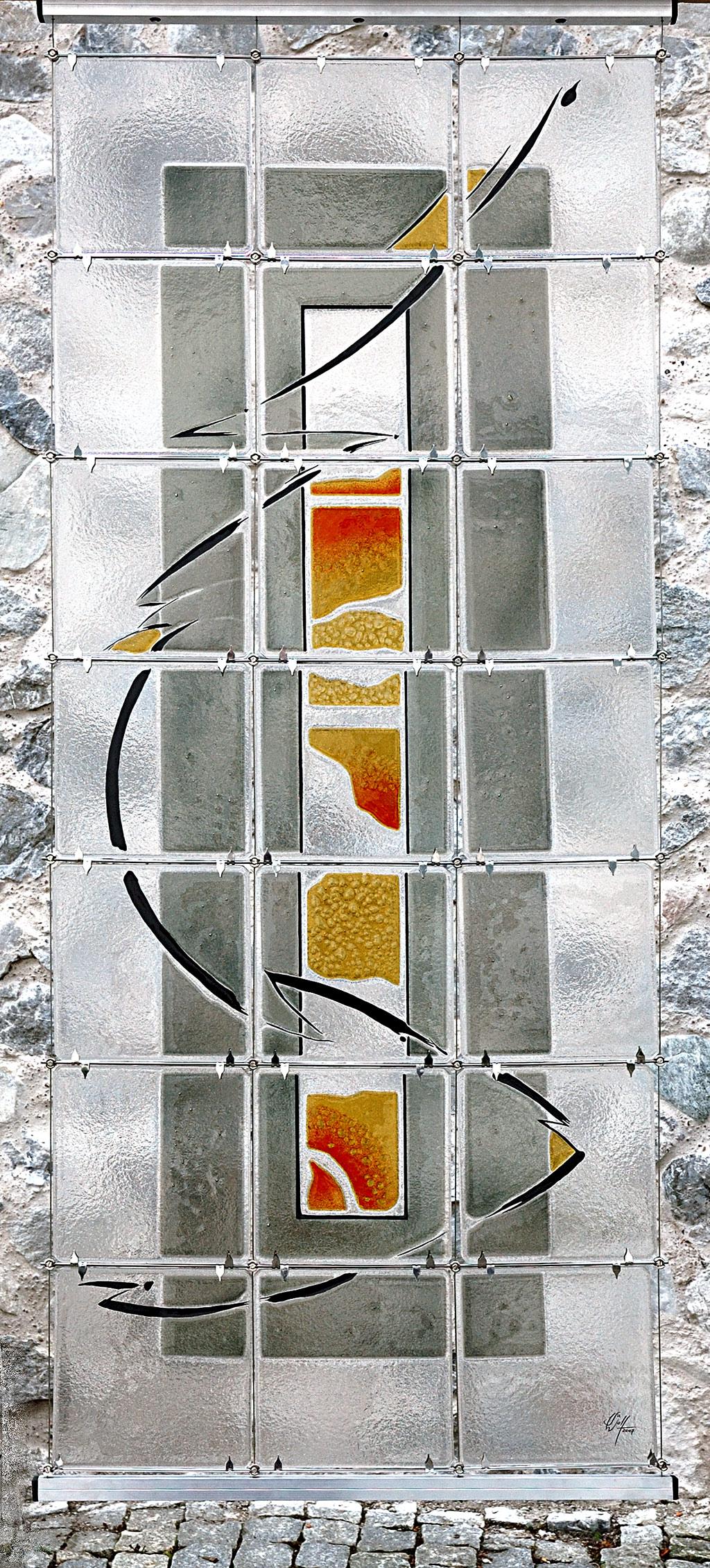 Im Inneren Auftragsarbeit Glaskunst in der Architektur Innen und Außen Innenraum Privatkunden Schönes Glas für Ihr Zuhause