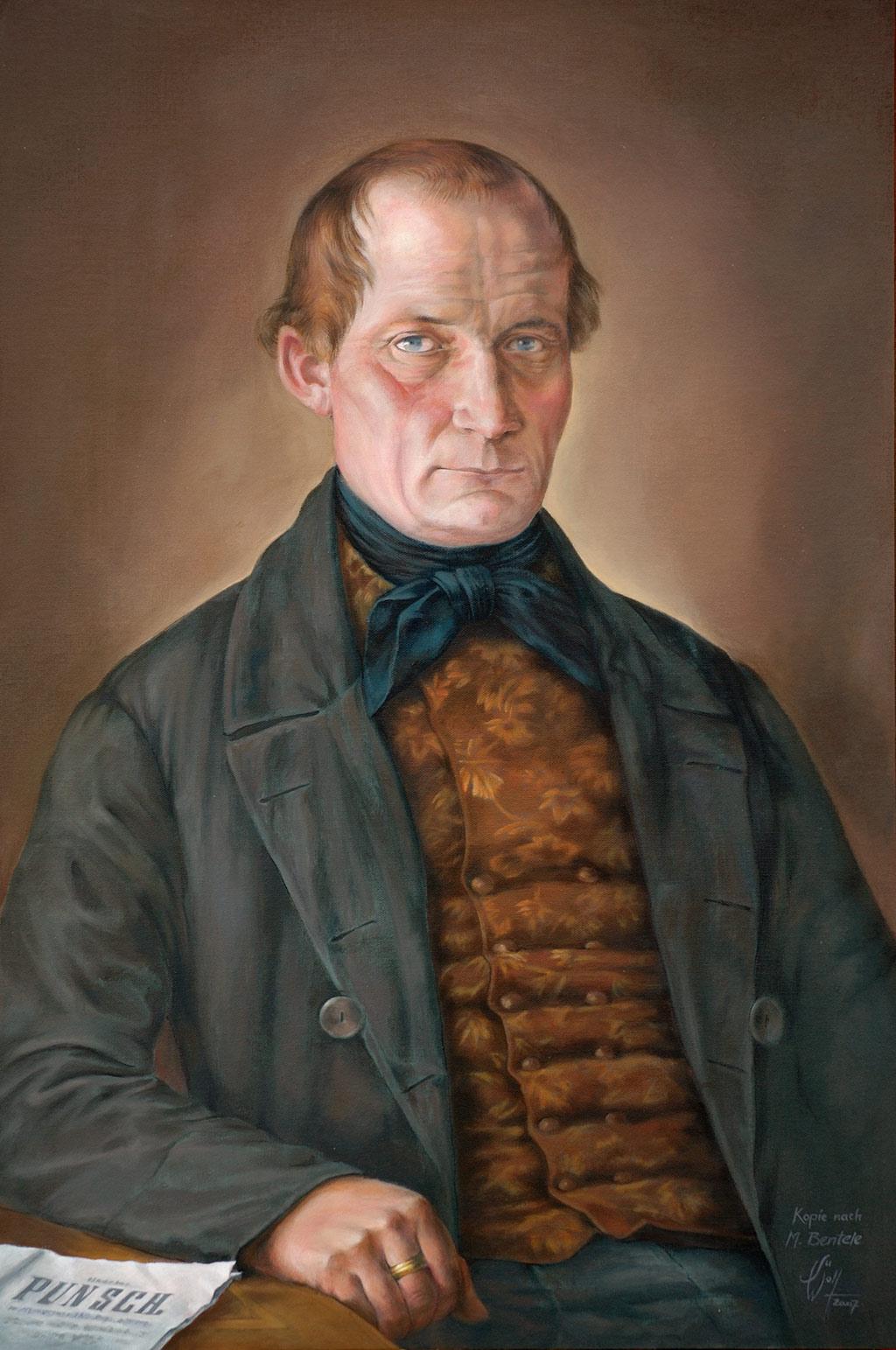 Portrait Carl Hirnbein Auftragsarbeit Kopie Neu und Alt Portraits