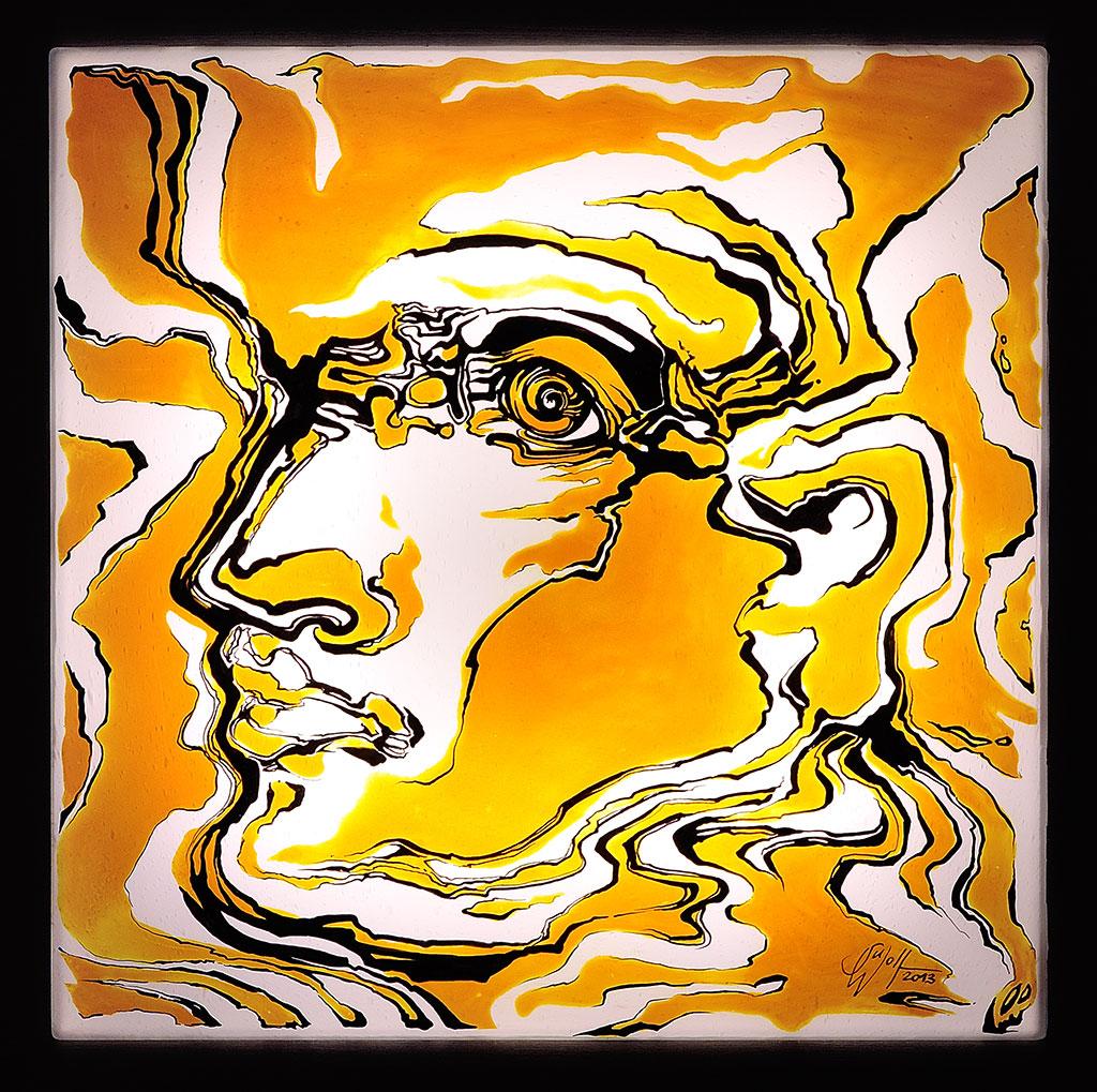 In Bewegung Glasbilder Glasmalerei Leuchtbilder