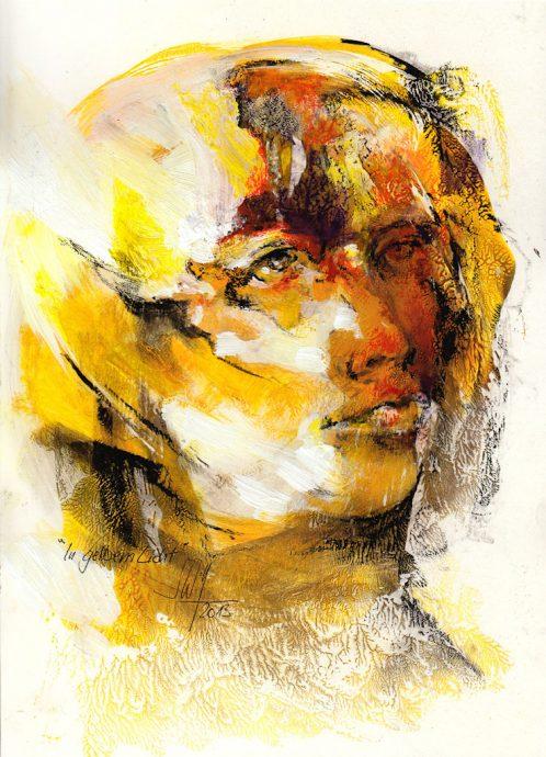In gelbem Licht Bilder Malerei und Zeichnung