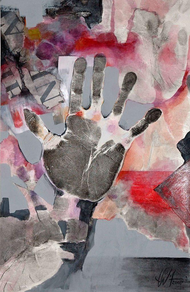 Körpersprache Bilder Freie Arbeit Malerei und Zeichnung