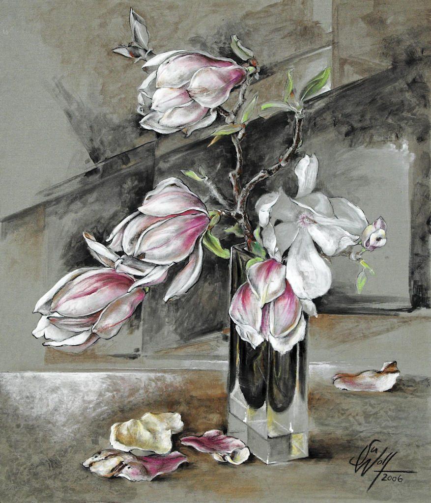 Magnolie Bilder Freie Arbeit Malerei und Zeichnung