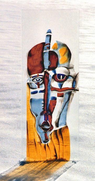 Maske Freie Arbeit Glasbilder Glasmalerei