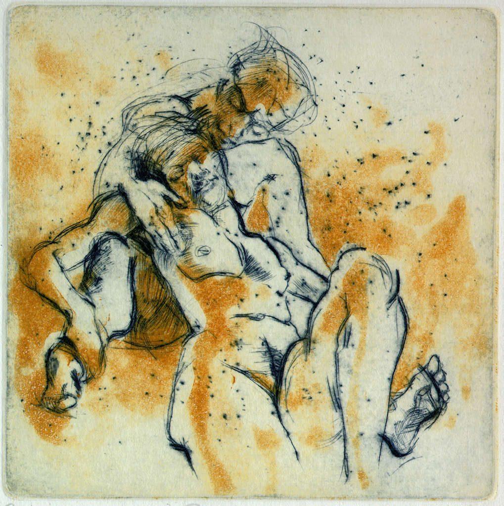 Paar Bilder Freie Arbeit Malerei und Zeichnung