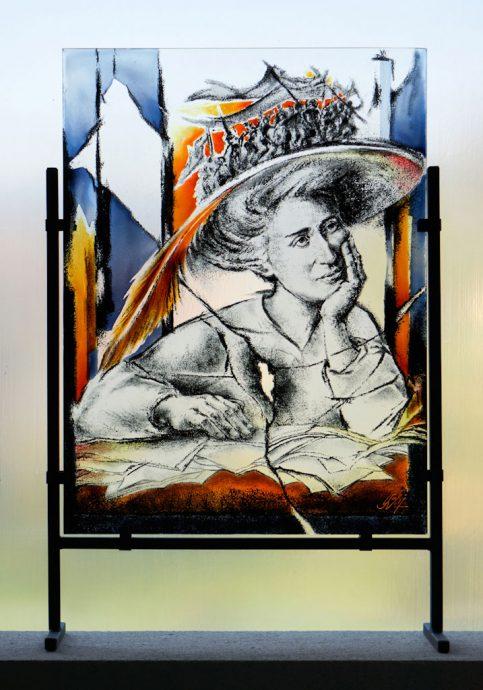 Rosas Visionen Freie Arbeit Glasbilder Glasmalerei Portraits