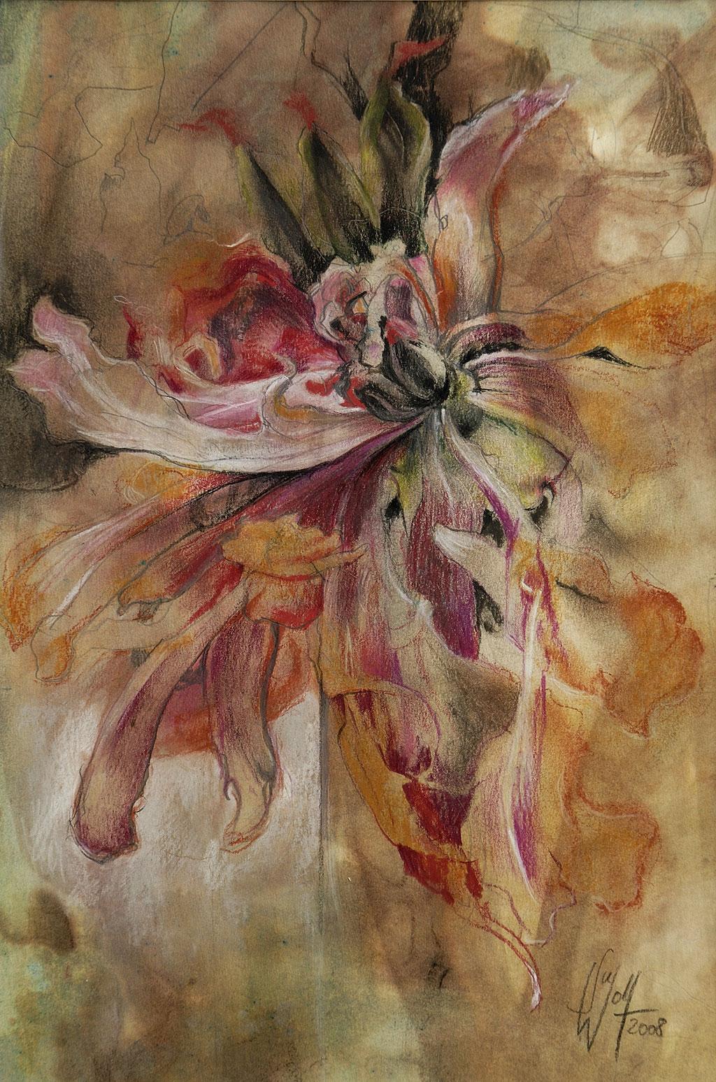 Vision einer Blüte Bilder Malerei und Zeichnung