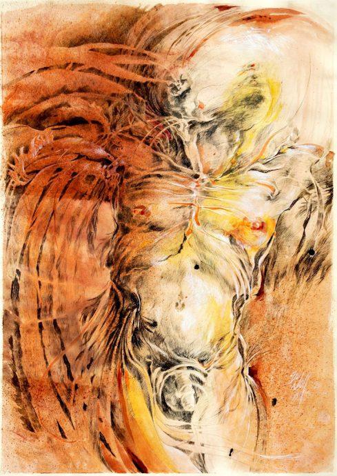 Vogelmensch Bilder Malerei und Zeichnung